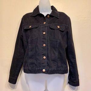 Bill Blass Jeans 90's Black Denim Jacket